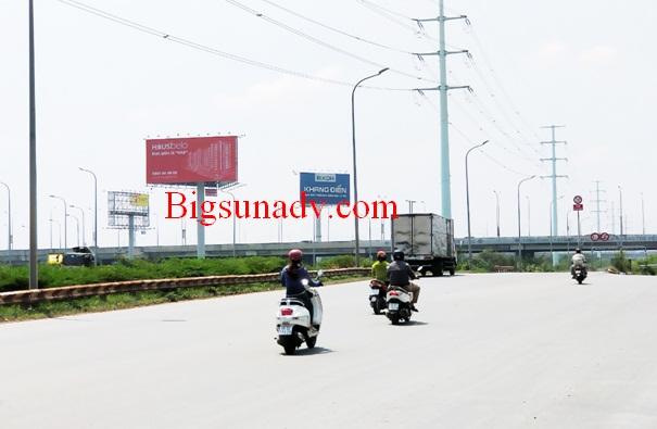 Quảng cáo sản phẩm bất động sản Ez Land tại cao tốc Long Thành Dầu Giây