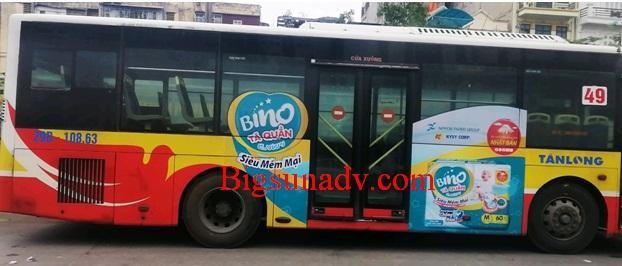 Quảng cáo cho sản phẩm bỉm Bino