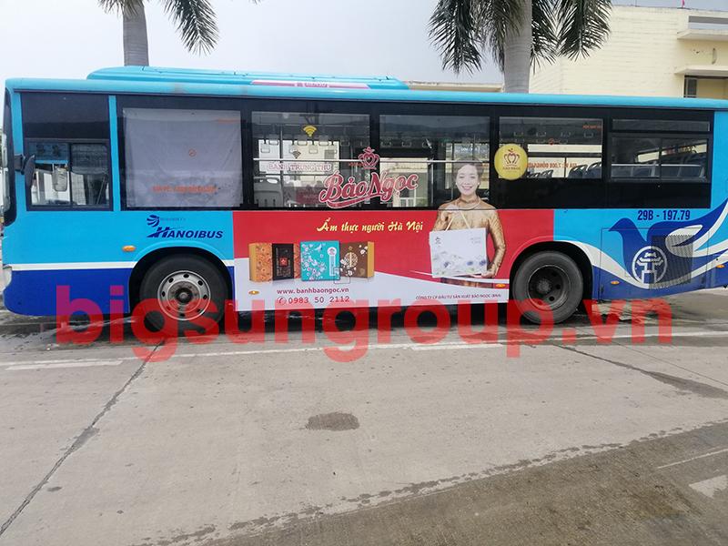 Quảng cáo xe bus nhãn Bảo Ngọc
