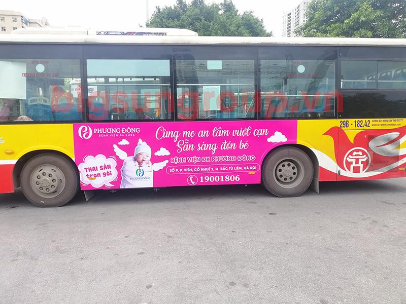 Quảng cáo xe bus nhãn Bệnh viện đa khoa Phương Đông