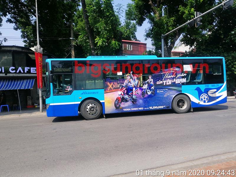 Quảng cáo xe bus nhãn xe đạp điện Yadea
